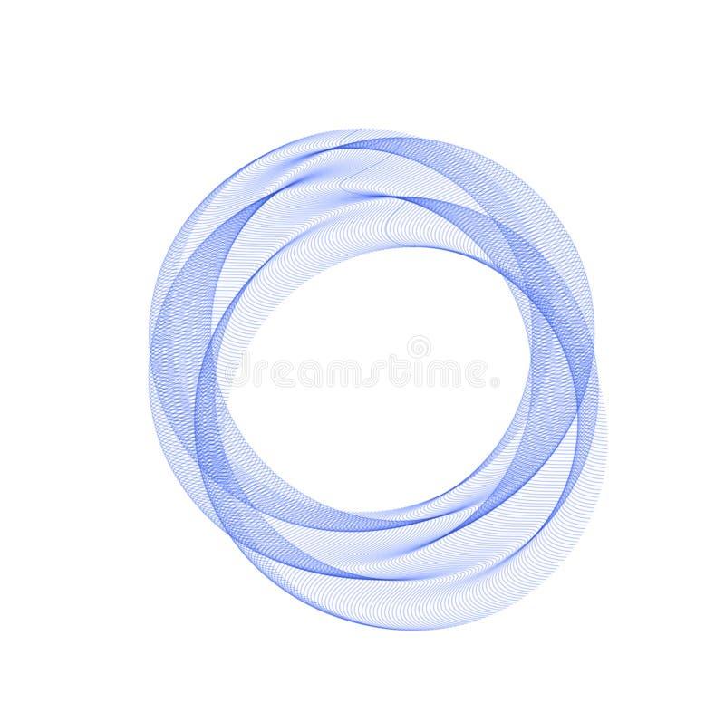 Błękitny abstrakcjonistyczny okrąg abstrakcjonistyczny tło Szablon dla ogólnospołecznej sieci, zavstka, pocztówka, reklamuje ilustracji