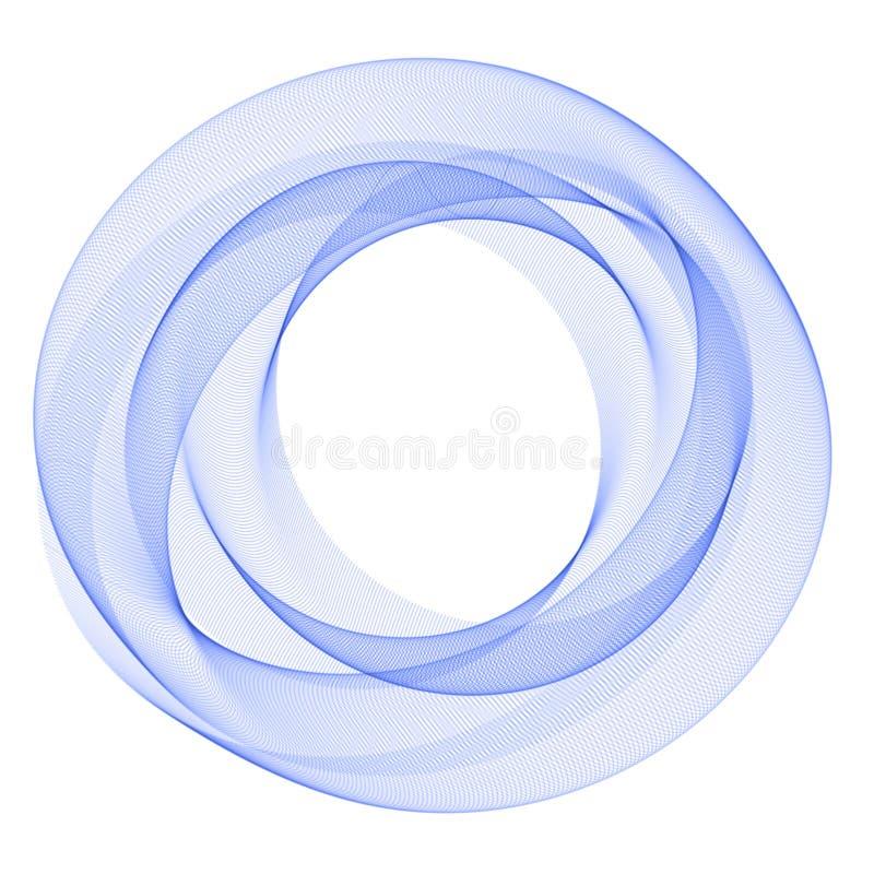 Błękitny abstrakcjonistyczny okrąg abstrakcjonistyczny tło Szablon dla ogólnospołecznej sieci, zavstka, pocztówka, reklamuje ilustracja wektor