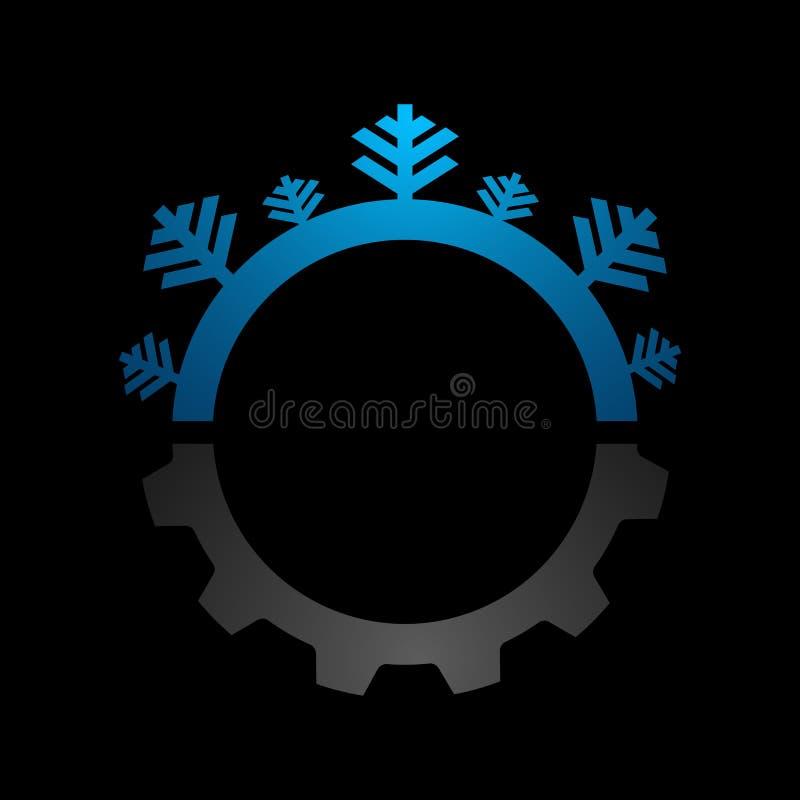 Błękitny abstrakcjonistyczny okręgu logo Medyczny nowa technologia rozwój, u ilustracji