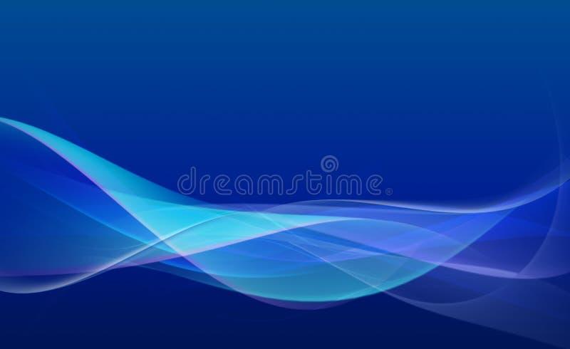 Błękitny abstrakcjonistyczny skład ilustracji