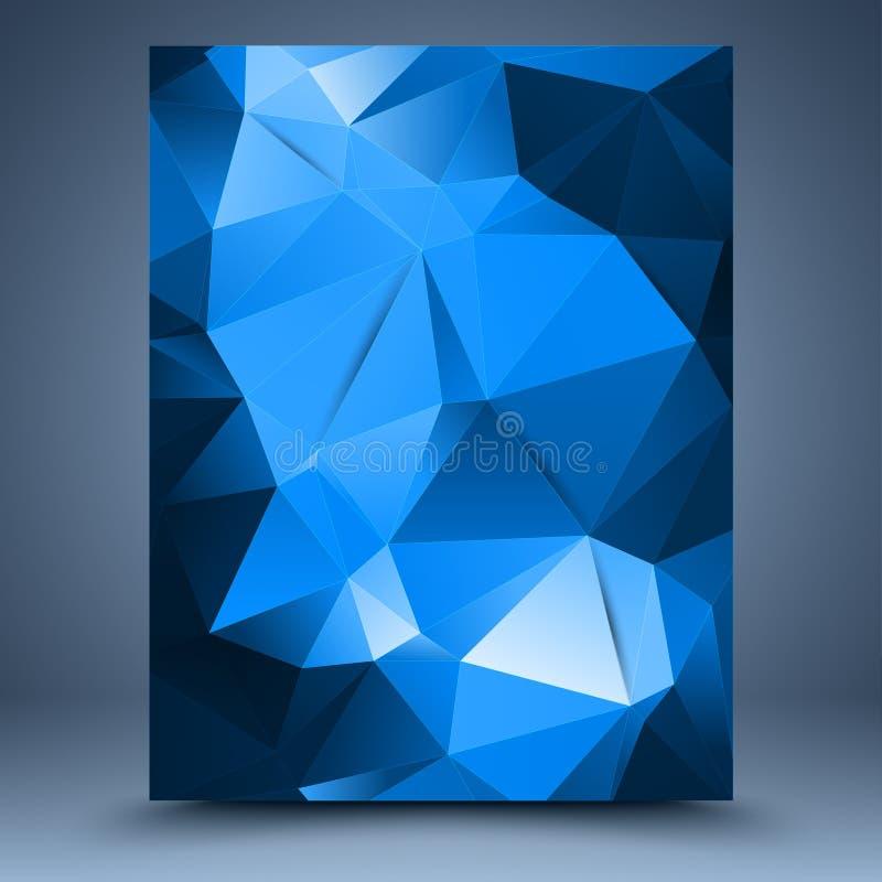 Błękitny abstrakcjonistyczny szablon ilustracja wektor