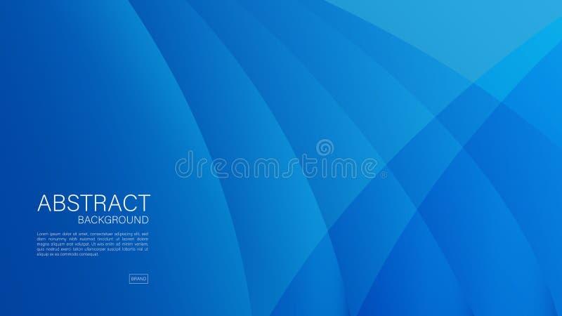Błękitny abstrakcjonistyczny tło, fala, Geometryczny wektor, grafika, Minimalna tekstura, okładkowy projekt, ulotka szablon,  ilustracja wektor