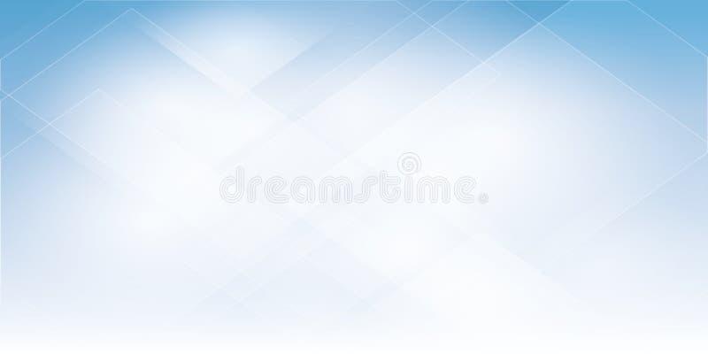 Błękitny Abstrakcjonistyczny tło geometrii warstwy i połysku element ilustracja wektor