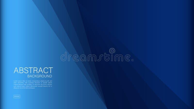 Błękitny abstrakcjonistyczny tło, wielobok, Geometryczny wektor, grafika, Minimalna tekstura, okładkowy projekt, ulotka szabl ilustracja wektor
