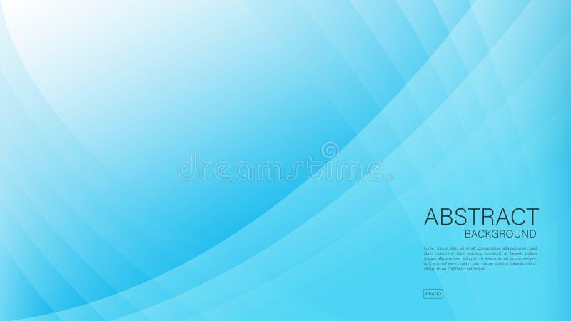 Błękitny abstrakcjonistyczny tło, wielobok, Geometryczny wektor, grafika, Minimalna tekstura, okładkowy projekt, ulotka szabl royalty ilustracja
