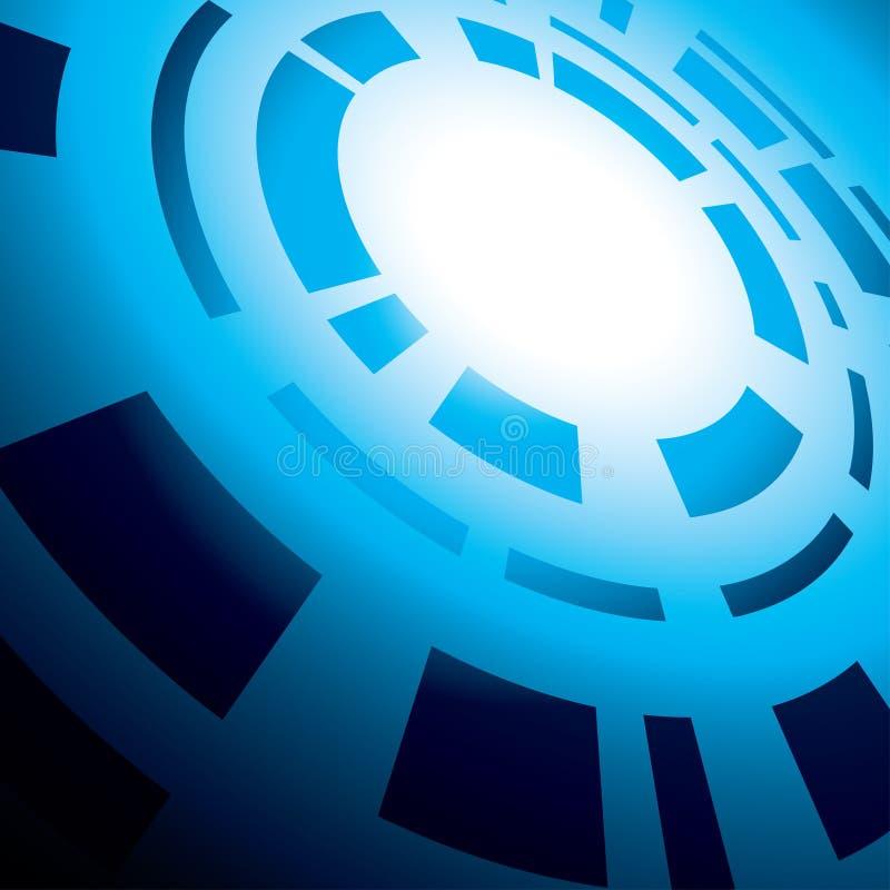 Błękitny abstrakcjonistyczny tło z round abstrakcją ilustracja wektor