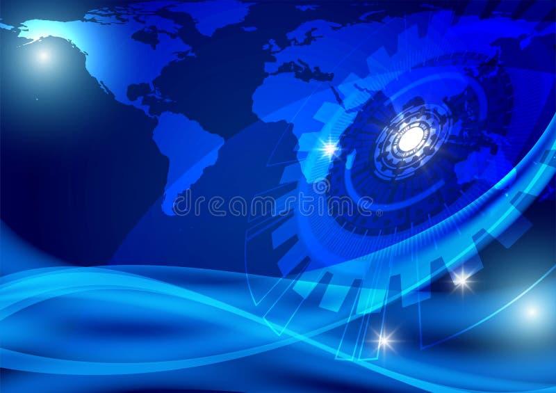 Błękitny abstrakcjonistyczny wektorowy biznesu pojęcie i, wektorowa ilustracja ilustracja wektor