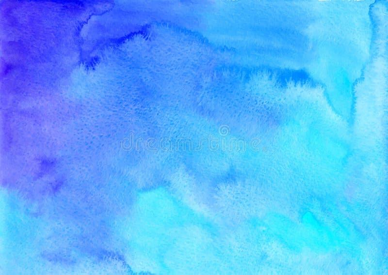 Błękitny akwarela wektoru tło ilustracja wektor