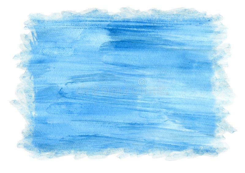 Błękitny akwareli tło dla ramy, tekstur i tło, akwarela abstrakcyjna ilustracja wektor