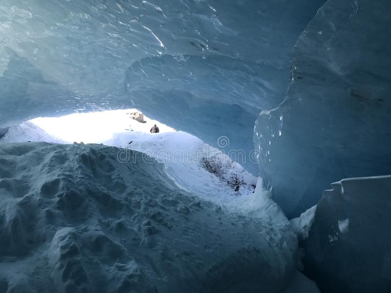 Błękitny Alaski lodowiec fotografia royalty free
