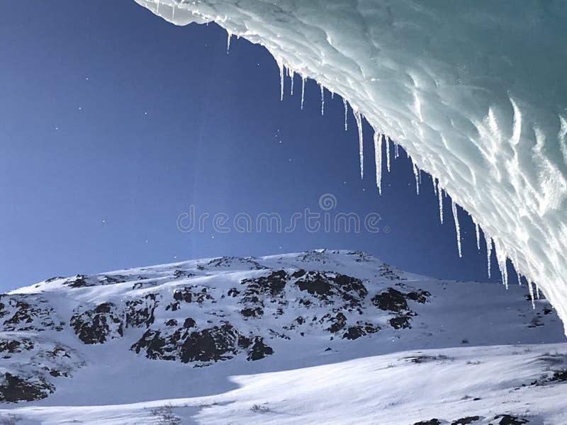 Błękitny Alaski lodowiec zdjęcie royalty free
