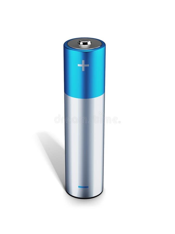 Błękitny alkaliczna bateria ilustracja wektor