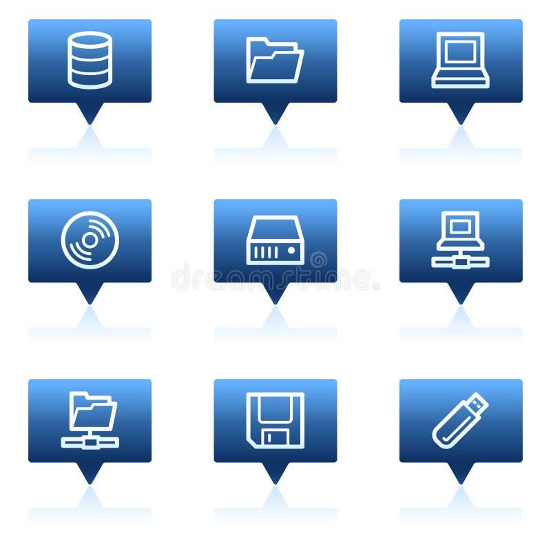 błękitny bąbli przejażdżek ikon mowy magazynu sieć ilustracji