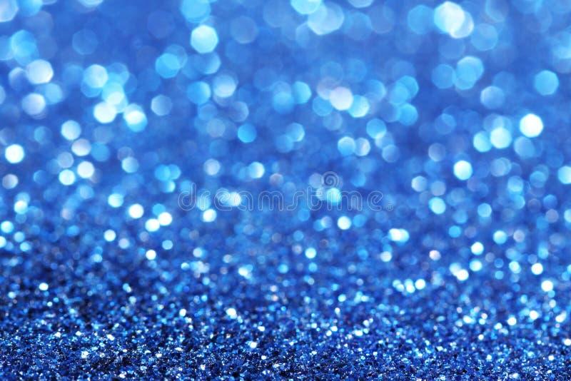 Błękitny błyskotliwość bożych narodzeń abstrakta tło zdjęcie stock