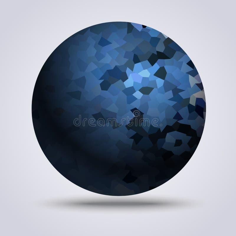 Błękitny balowy tło ilustracji