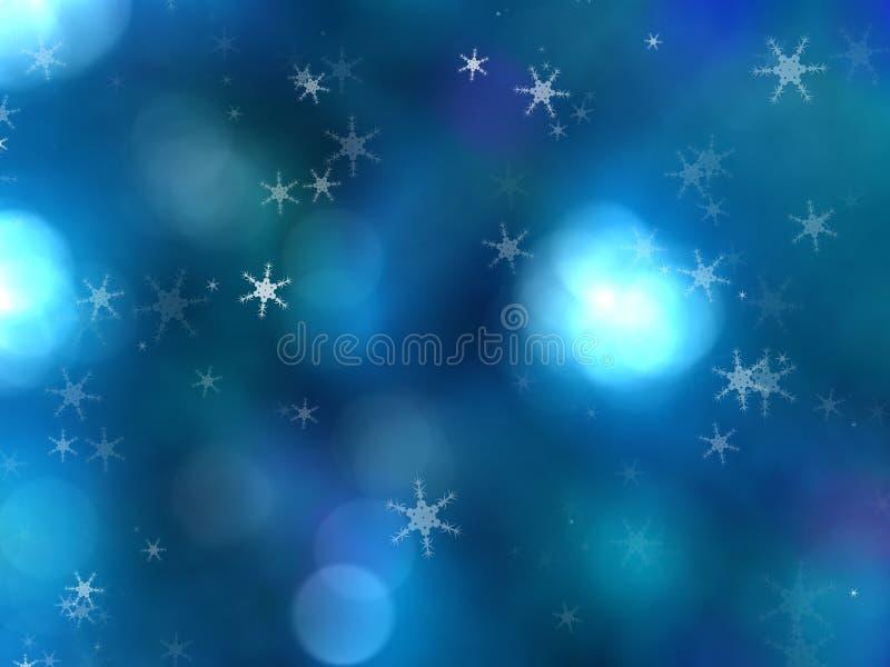 Błękitny barwiony bożego narodzenia tło z choinki gałąź w zieleni fotografia royalty free