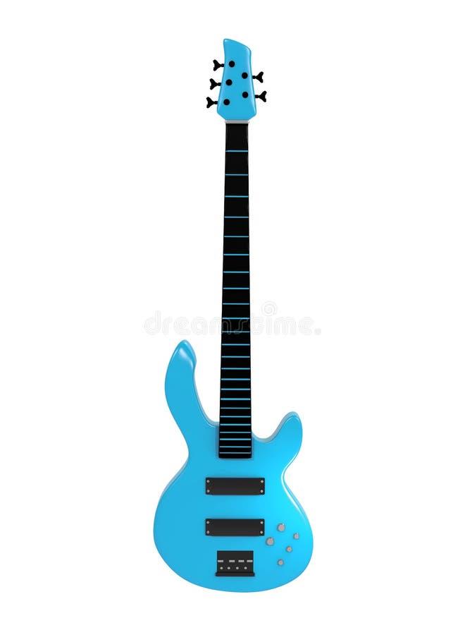 Błękitny bas odizolowywający na białym tle obraz stock