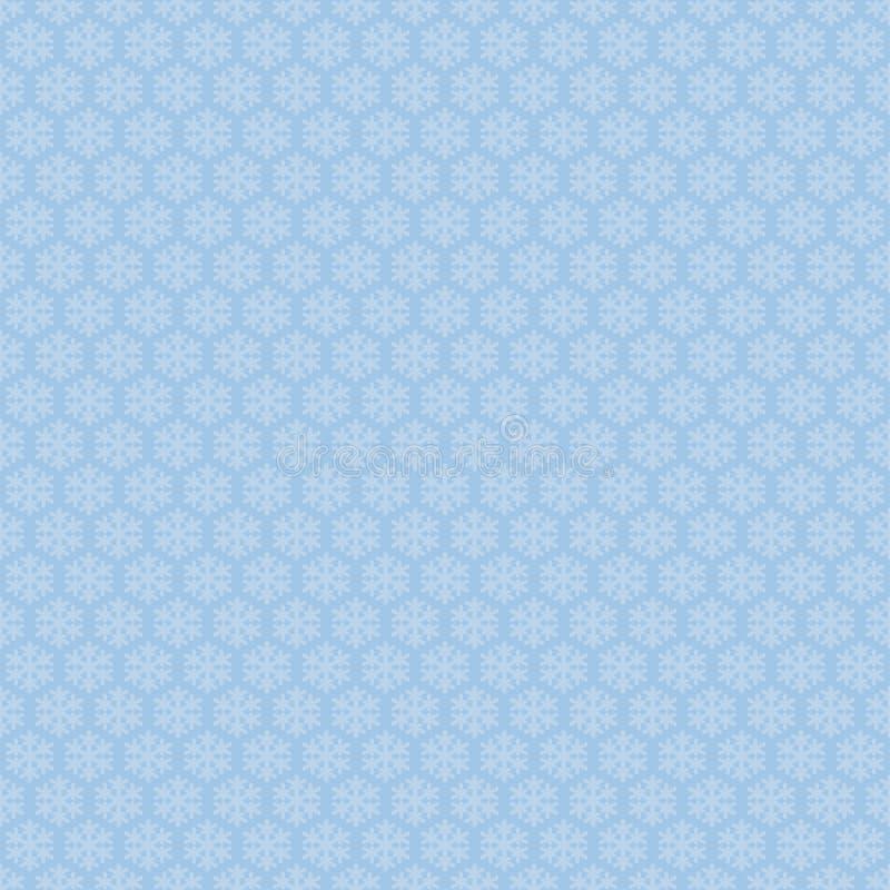 Błękitny bezszwowy płatka śniegu wzór Wektorowy śnieg ilustracji