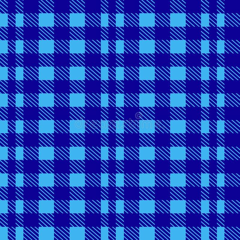 Błękitny bezszwowy tablecloth wektor Powiewny Błękitny i Nadrzeczny kolor tradycyjny deseniowy bezszwowy tablecloth ilustracji