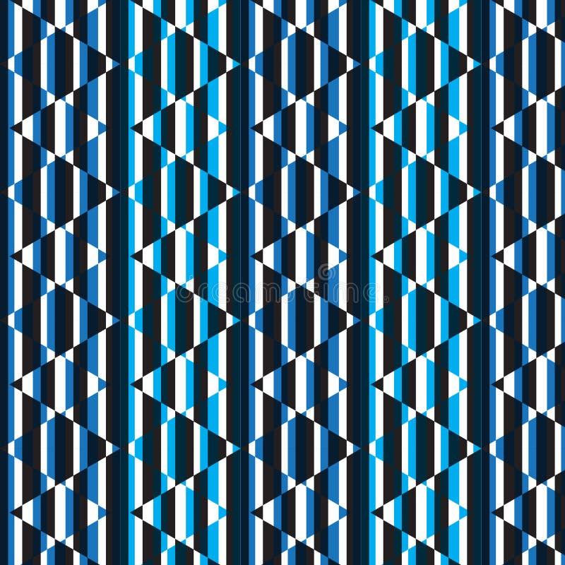 Błękitny biały czarny pionowo pasiasty diamentowy kształta wzoru backgrou ilustracji