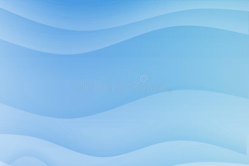 błękitny bieżące kojące fala ilustracji