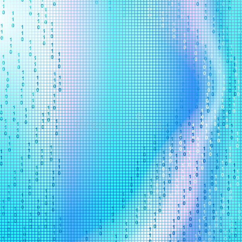 Błękitny binarny kwadratowy tło ilustracji