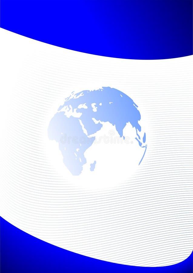 błękitny biznesu ziemi planety szablon ilustracja wektor