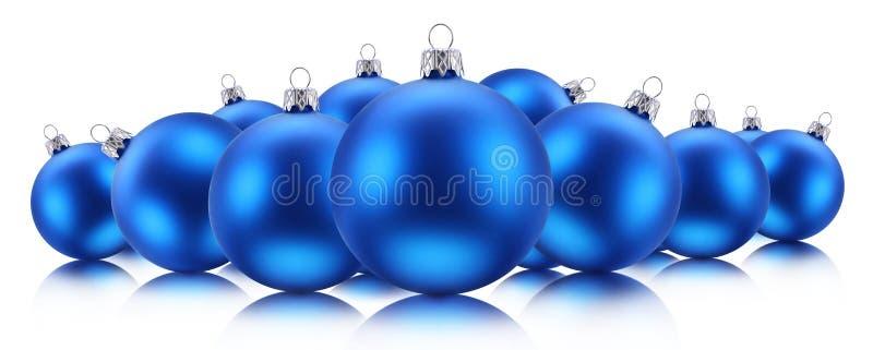 Błękitny Bożenarodzeniowe piłki obrazy stock