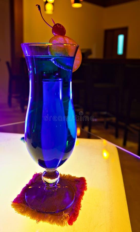 błękitny bocal Curacao obrazy royalty free