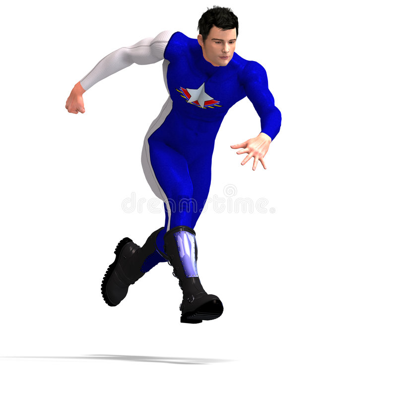 błękitny bohater super ilustracji