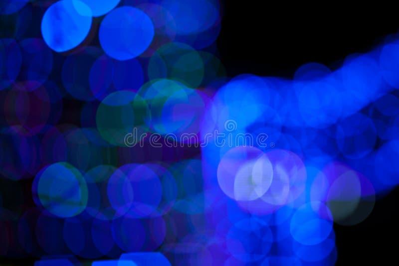 Błękitny bokeh abstrakt na czarnym tle obrazy stock