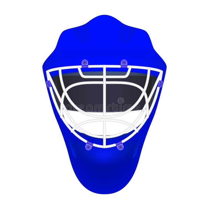 Błękitny bramkarza hokeja hełm ilustracji