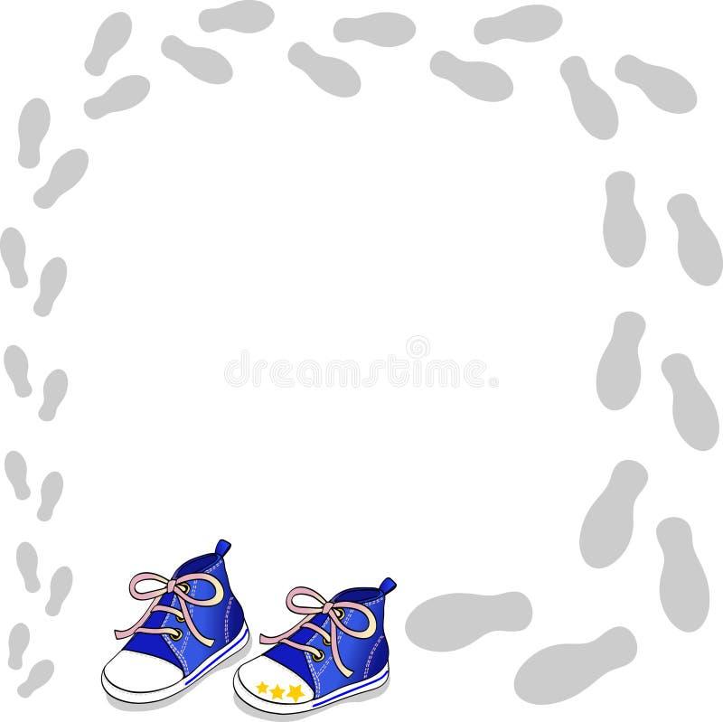 błękitny buty ilustracji