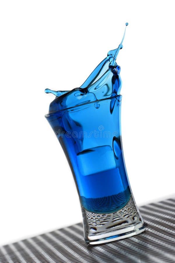błękitny ciekły pluśnięcie zdjęcie stock