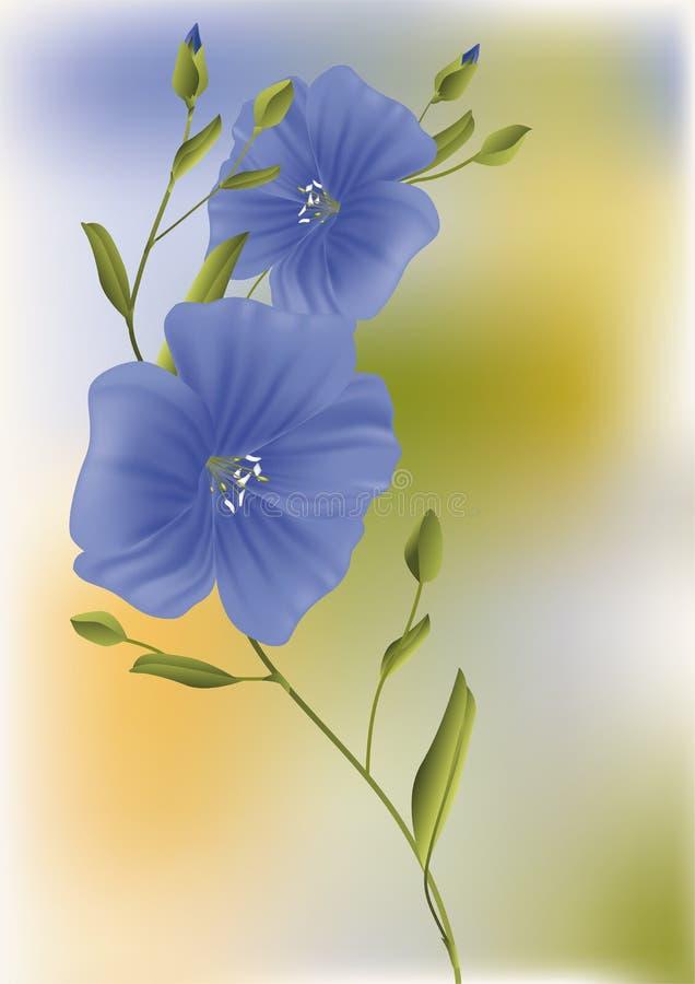 błękitny ciemni kwiaty ilustracja wektor
