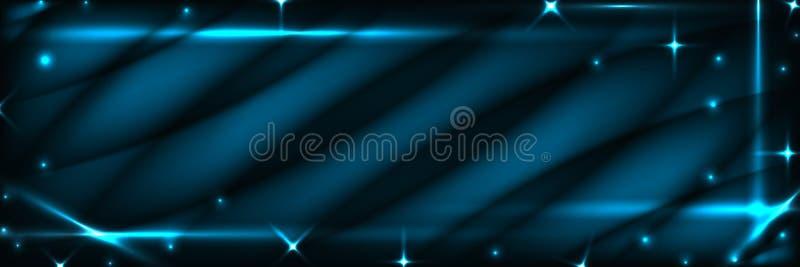 Błękitny ciemny sztandar ilustracja wektor