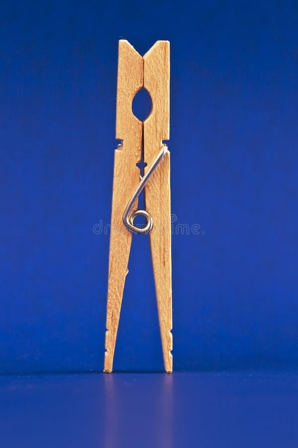Download Błękitny clothespin zdjęcie stock. Obraz złożonej z odziewa - 13336226
