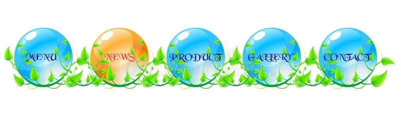 błękitny concep zieleni nawigaci pomarańcze sieć ilustracji
