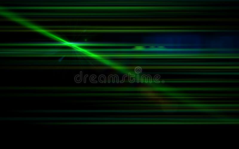 Błękitny cyfra obiektywu raca z jaskrawym światłem w czerni royalty ilustracja