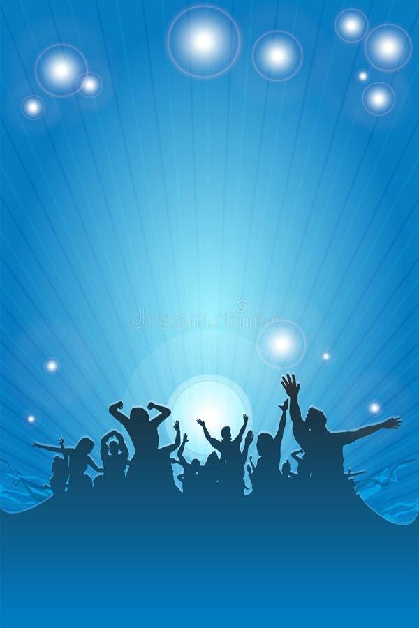 Błękitny dancingowi ludzie ilustracji