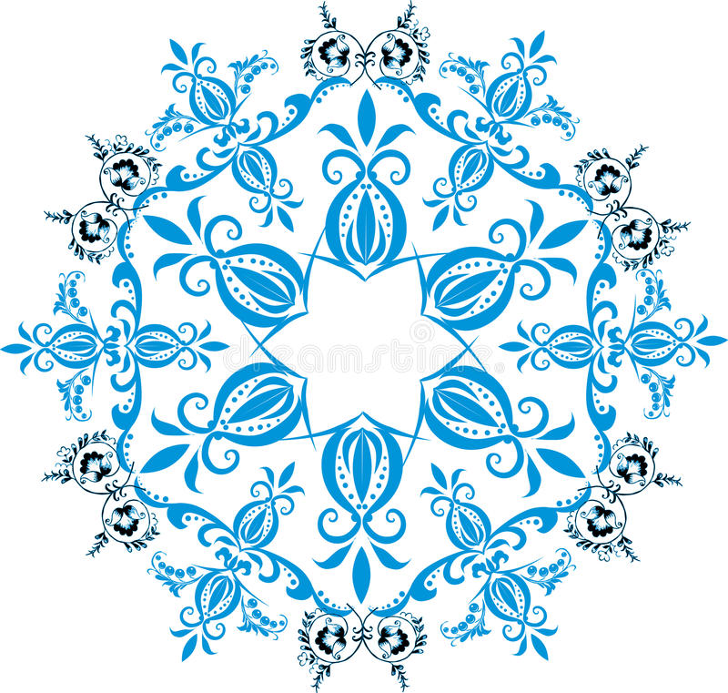 błękitny dekoraci ilustraci gwiazda royalty ilustracja