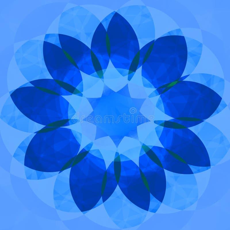 Błękitny dekoracyjny kwiat royalty ilustracja