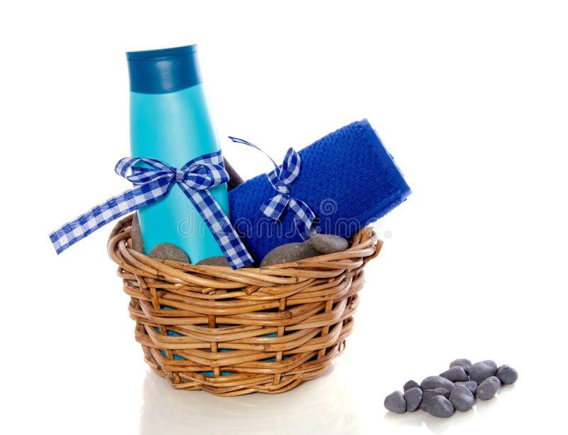 błękitny dekorujący mydlany ręcznik obrazy royalty free