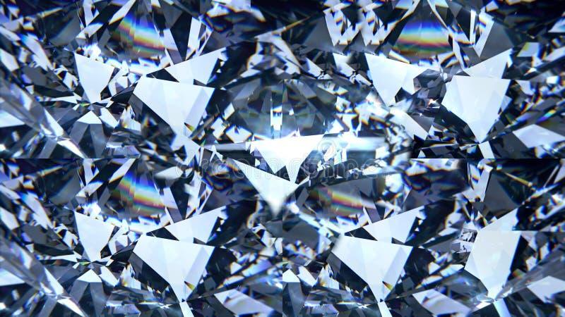 Błękitny diamentowy dyspersyjny materiał filmowy Galanteryjnego koloru klejnotu diamentowy krystaliczny tło zdjęcia stock