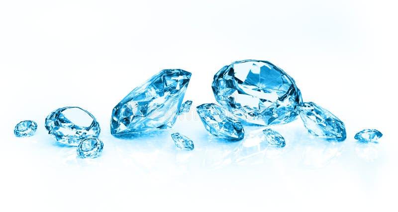 błękitny diamenty royalty ilustracja
