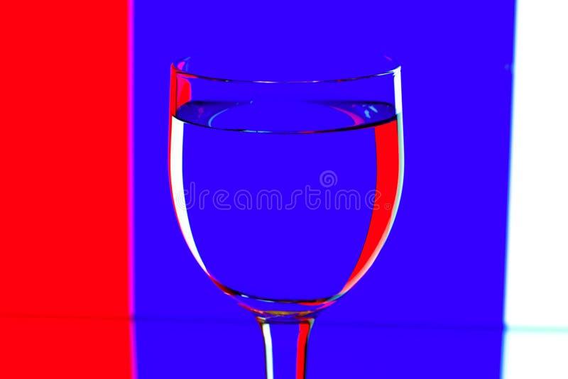 błękitny domina szkieł biały wino obraz stock