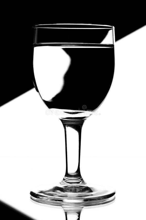 błękitny domina szkieł biały wino zdjęcie stock
