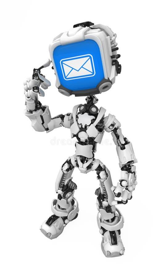 błękitny dostawać poczta robota ekran