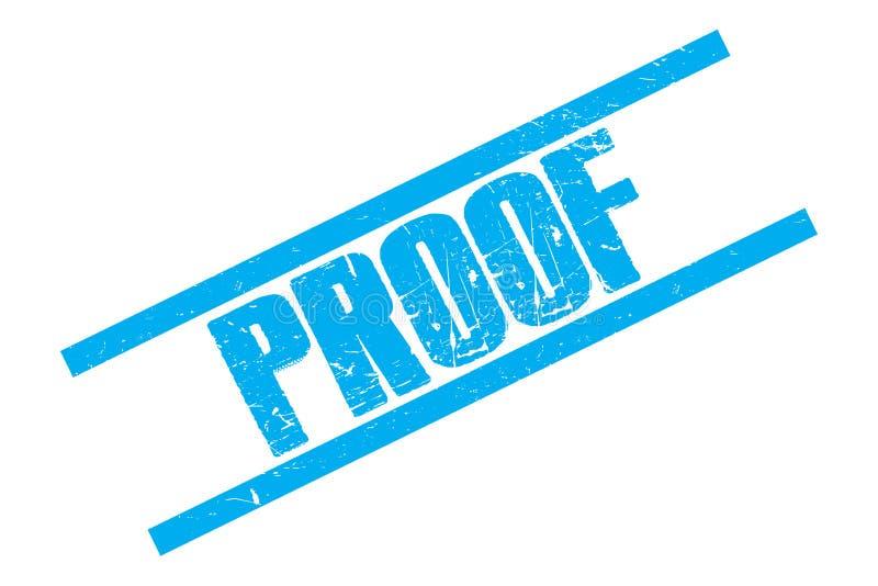 Błękitny dowodu znaczek ilustracja wektor