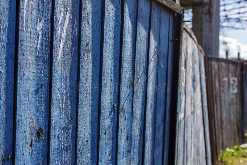 Błękitny drewniany tło dla prezentacj lub reklamy obraz stock
